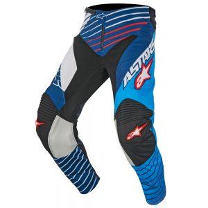 Pantaloni Alpinestars Racer Braap cyan white blue e white blue back