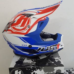 Casco Just 1 J32 Bianco rosso