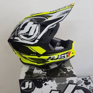 Casco Just 1 J32 Nero giallo