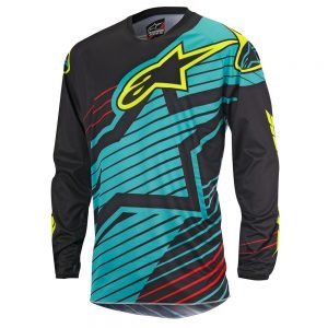 Maglia Alpinestars Racer Braap Jersey teal black yelllow fluo